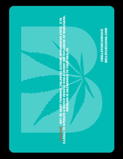 Bellevue Cannabis Cartridge Insert - Back