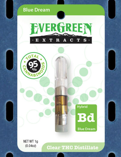 Evergreen Extracts Blue Dream Clear THC Distillate Cartridge