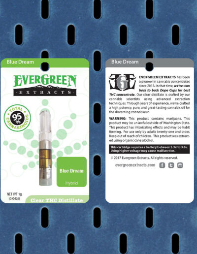 Evergreen Extracts Tropical Fruit Clear Distillate Cartridge