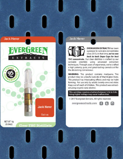 Evergreen Extracts Jack Herer Clear Distillate Cartridge