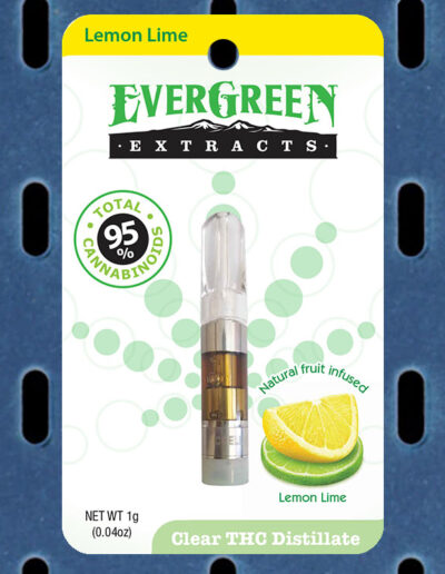 Evergreen Extracts Lemon-Lime Clear THC Distillate Cartridge