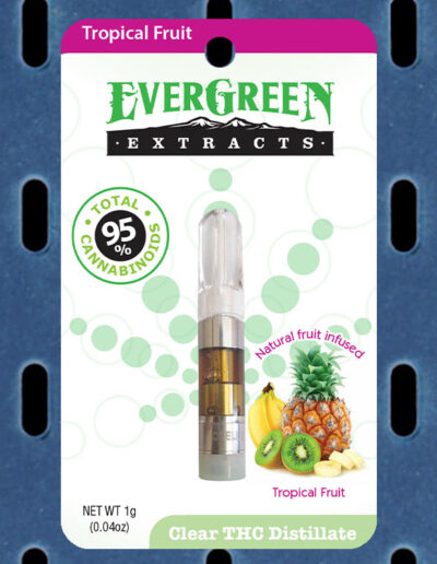 Evergreen Extracts Tropical Fruit Clear THC Distillate Cartridge