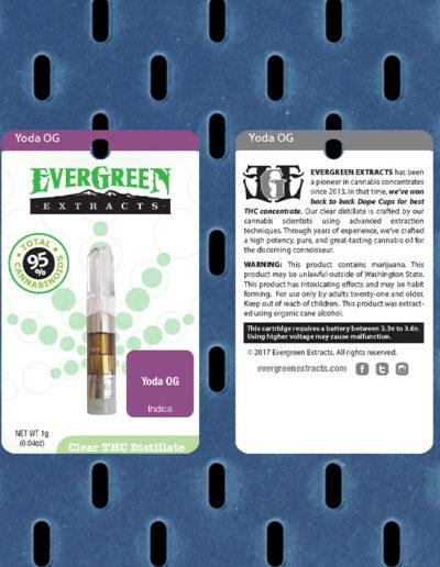 Evergreen Extracts Yoda OG Clear Distillate Cartridge