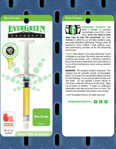 Evergreen Extracts Blue Dream Clear Distillate