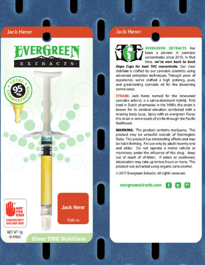 Evergreen Extracts Jack Herer Clear Distillate