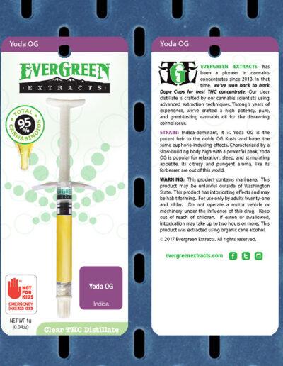 Evergreen Extracts Yoda OG Clear Distillate