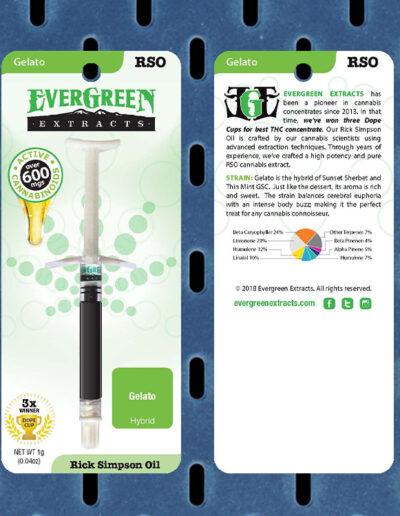 Evergreen Extracts Gelato RSO