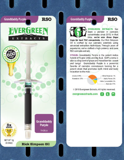Evergreen Extracts Granddaddy Purple RSO