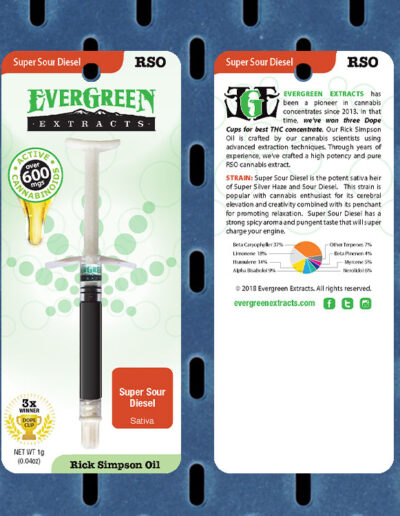 Evergreen Extracts Super Sour Diesel RSO