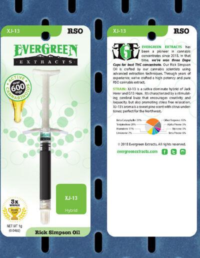 Evergreen Extracts XJ-13 RSO