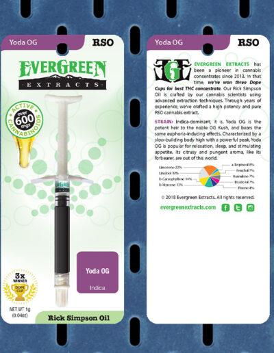Evergreen Extracts Yoda OG RSO