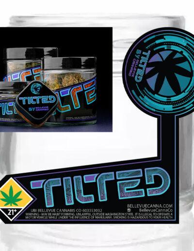 Tilted 1-Oz Jar Label