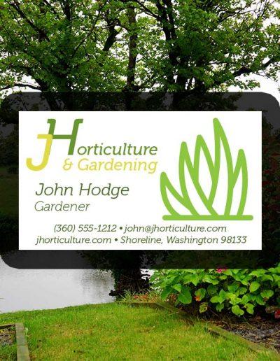Horticulture Business Card Design